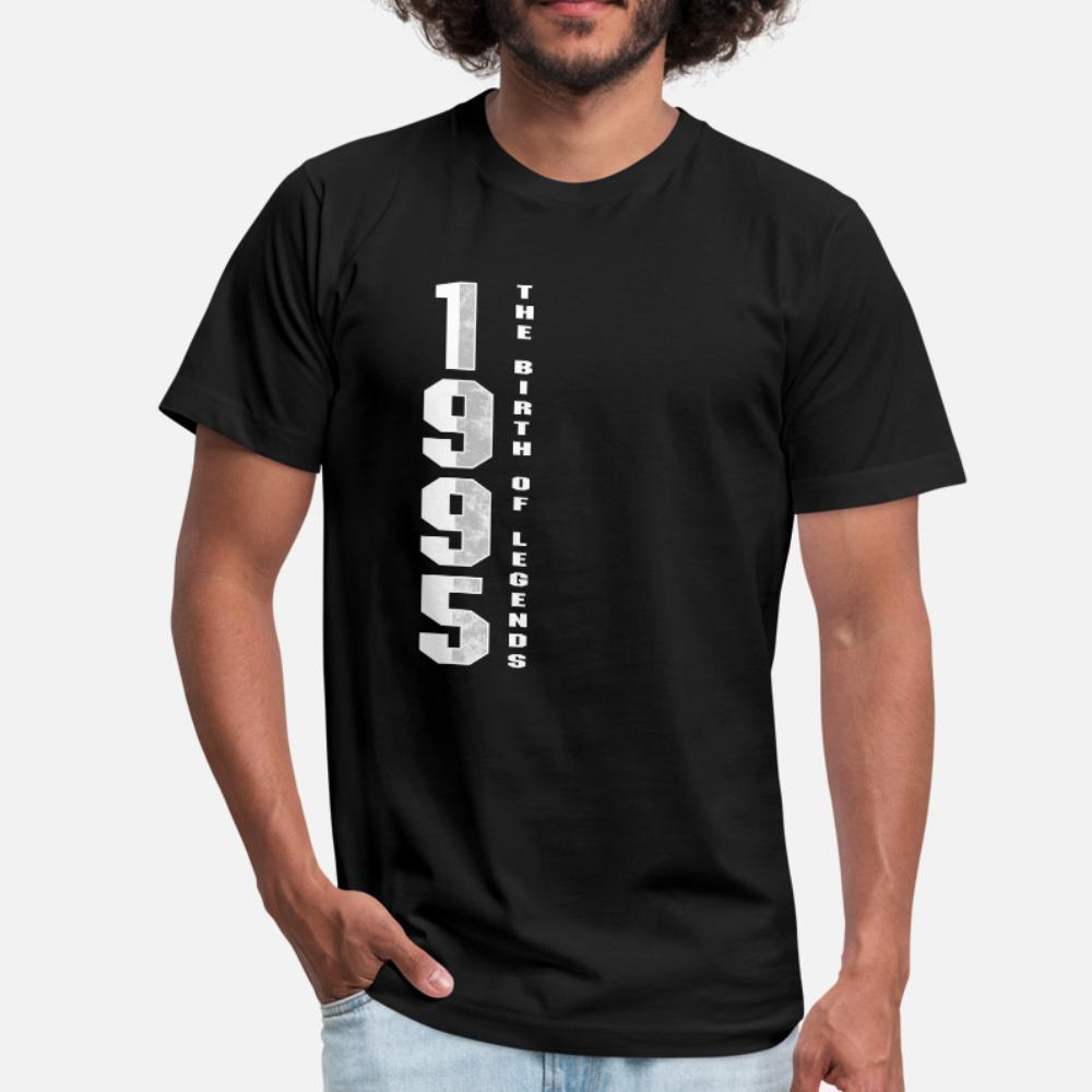 La nascita di Legends 1995 della maglietta di 25 Regalo di compleanno Gi uomini di disegno 100% cotone o collo di base solido allentato autentica camicia Primavera Autunno Normale