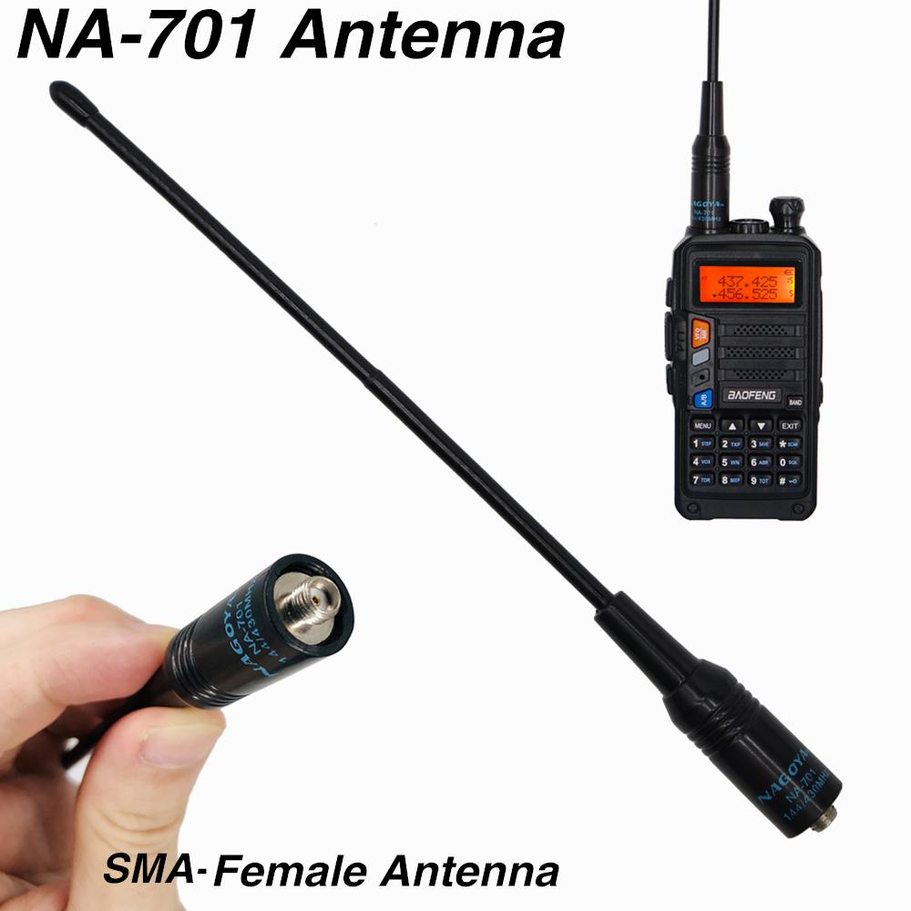 Original NA-701 Antenna SMA-F Dual Band Walkie Talkie Antenna for Baofeng Two Way Radio UV-5R UV-82 BF888S TYT Kenwood Ham Radio