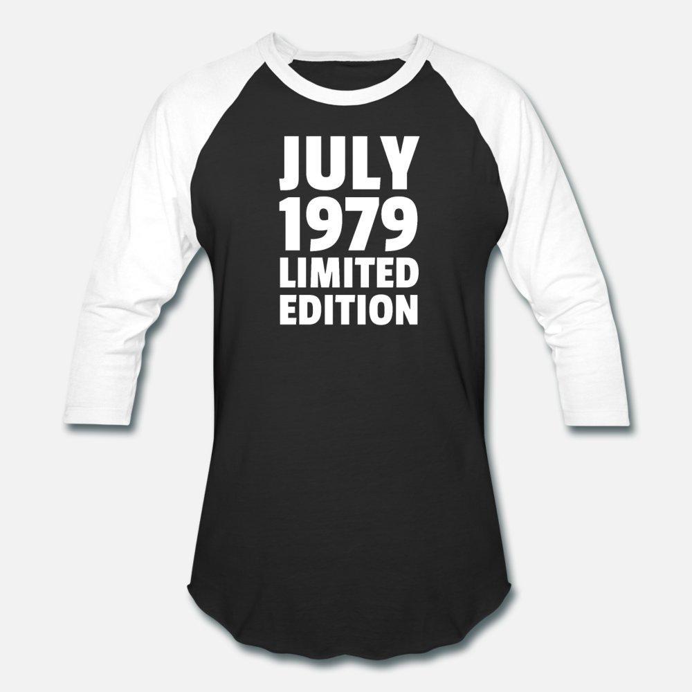 Juillet 1979 Taille du coton Impression hommes t-shirt édition limitée S-3XL homme lâche drôle chemise décontractée Lettre printemps