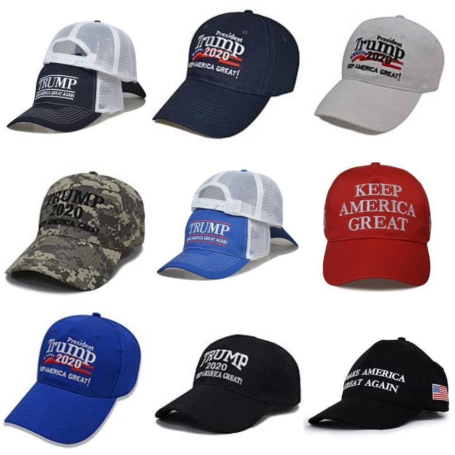 Hot-Qualitäts-amerikanischen Präsidenten Präsident Trump Camouflage-Baseballmütze Trump2020 Hut Stickerei-Druck Baseballmütze Wcw507 # 337