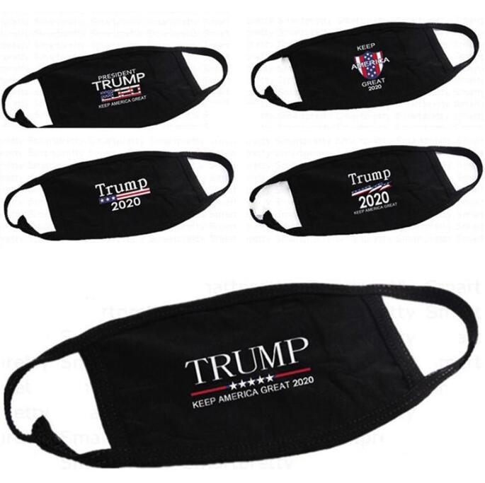 US LAGER! Trump Gesichtsmasken Anti-Staub-Baumwolle Damen Herren Unisex Mode-Winter-warmer Schwarz USA-Flagge Maske