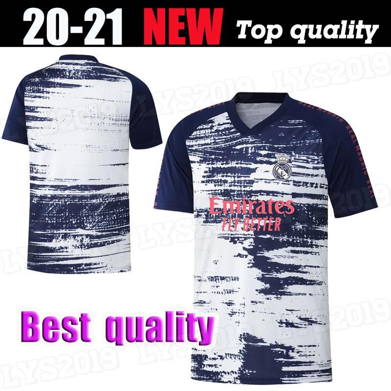 20 21 ريال مدريد ما قبل مطابقة دعوى التدريب Soccer Jersey Hazard Sergio Ramos Benzema Vinicius Camiseta Football Shirt Oechs 2020 2021