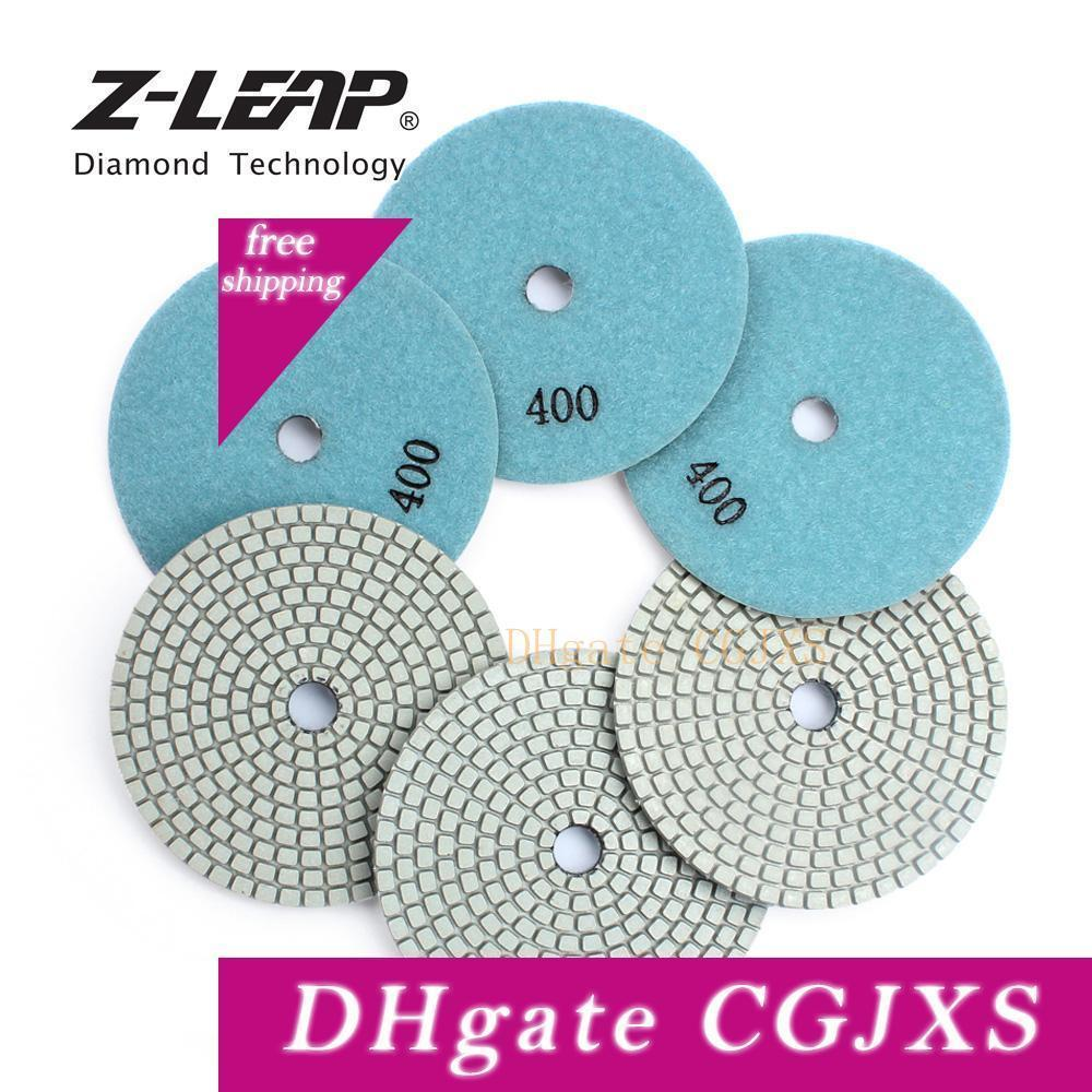 Z -Leap 4 pulgadas 6pcs 100mm mármol pulido de diamantes de ratón Resinas Bond discos de pulido abrasivo rueda de herramientas granito Pad polaco