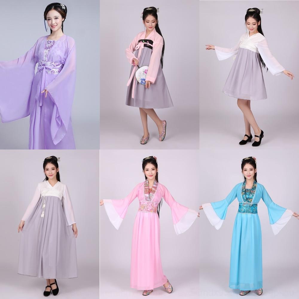 Costume antigo BpGUW feminino fada do sexo feminino antigo traje grandes saia saias 5n3sg elegante e manga vestido elegante vestuário chinês adulto fr