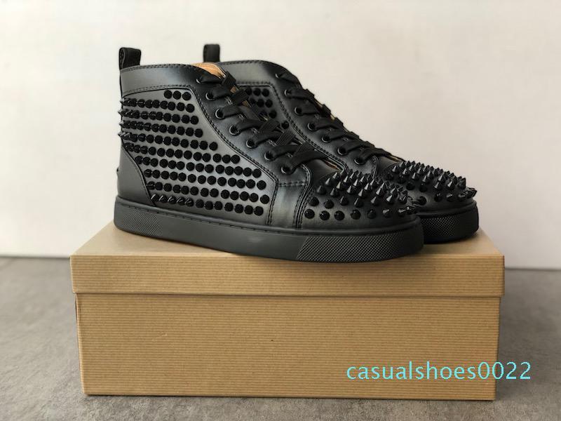 İyi Tasarımcı Sneakers Çivili Dikenler Ayakkabı erkek eğitmenler Kırmızı Alt erkek düz Ayakkabı grafiti Parti Düğün Ayakkabı 20 renk C22