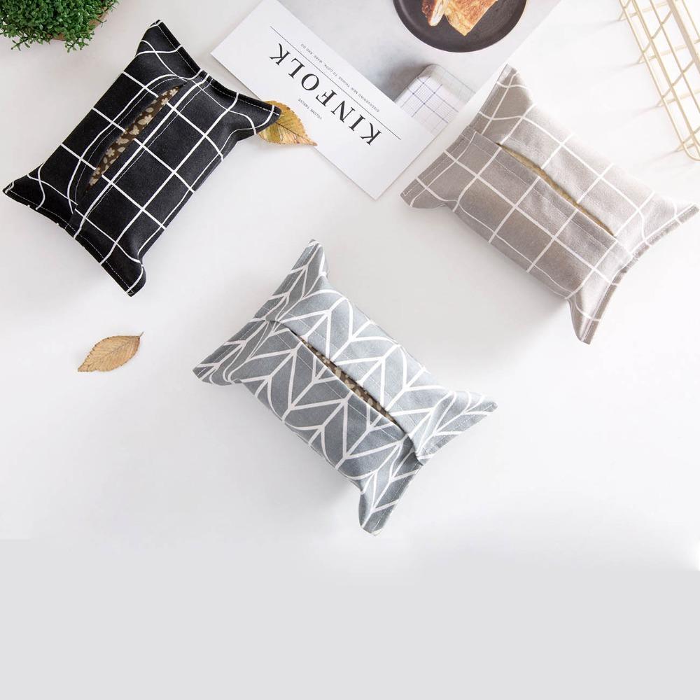 Nuova scatola del tessuto tovagliolo Holder Caso Cucina Soggiorno Carta Auto contenitore della cassa Cotone Lino decorazione domestica