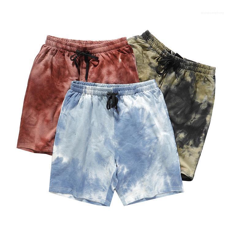 Pantaloncini primavera e l'estate del cotone di modo Swag pantaloni di scarsità Tie Dye Beach Pants Mens allentati