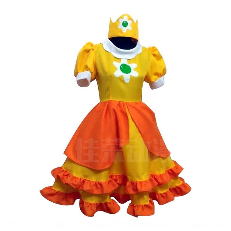 zW5sh Jiarong Super Mario coswear Super cosplaywear Daisy Princess Princess desenho animado vestido de Mario