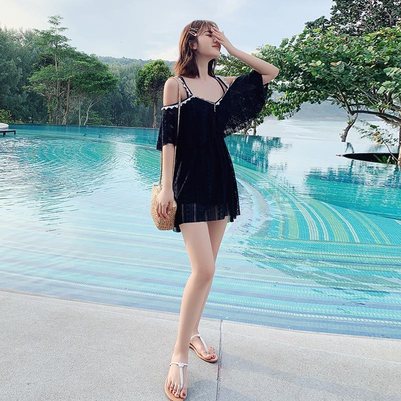 1gOLE conservatrice nouvelle poitrine petite d'une seule pièce de femmes réunis ventre sexy couvrant minceur grande taille maillot de bain maillot de bain printemps chaud coréenne