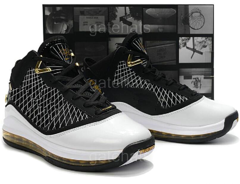 2020 New James 7s Tapis rouge All-Star Hommes Chaussures de basket Verre Blanc Noir Bleu Chilling 7 VII Varsity Designer Sport Sneakers 7-12 A31