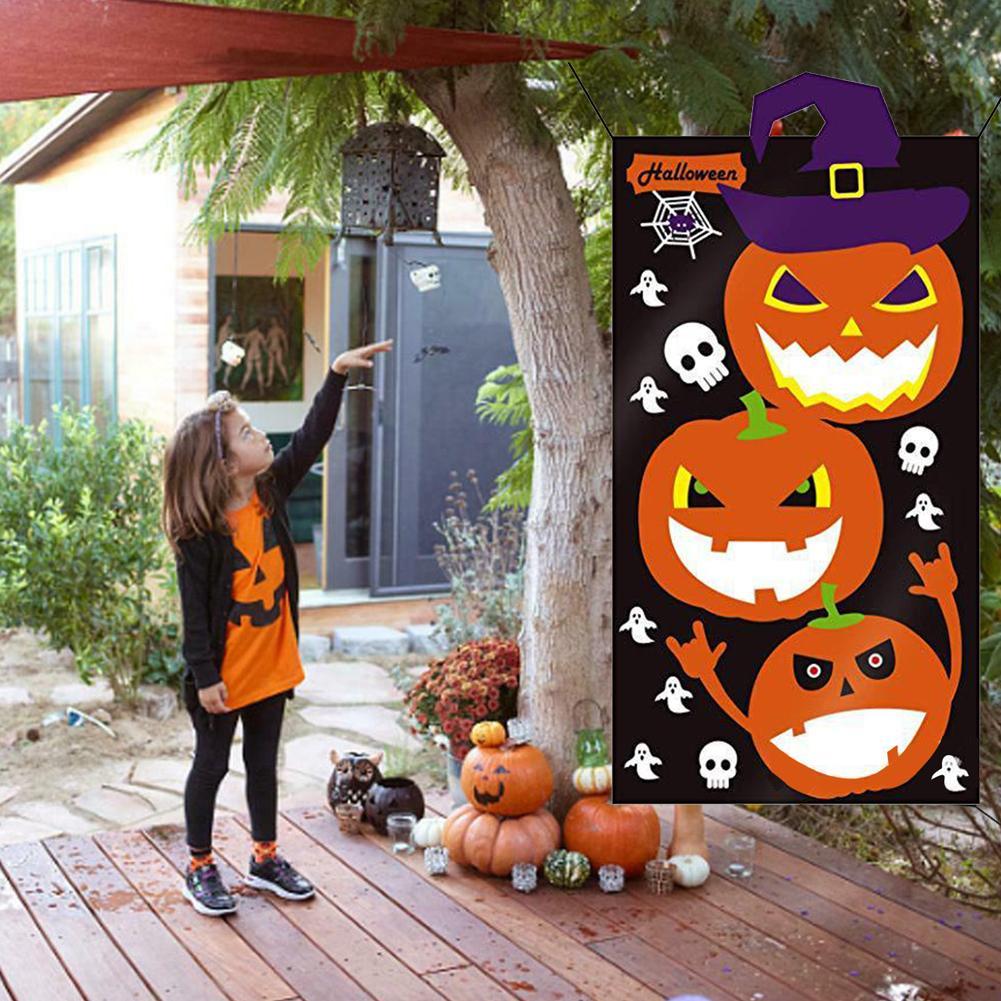 Toss juego para niños adultos Decoración Con Banner colgante de Halloween Bean Bag Set