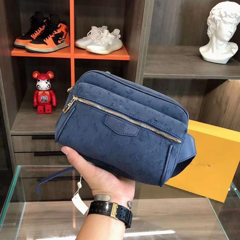 Nouveau Hommes Denim poitrine Camera Bag poche extérieure Lady Sacs à main hommes et femmes ordinaires Sacs à dos Sac de taille Packs Sac militaire