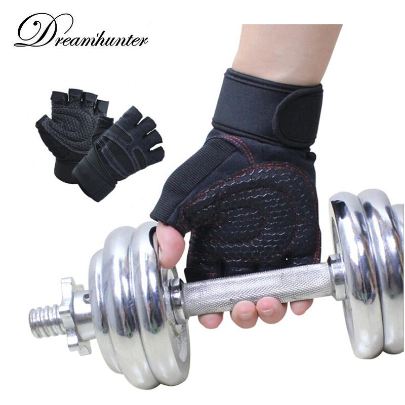 1 Pair Fitness equipment breathable non-slip wrist brace gloves unisex weight lifting Training Wrist Support fitness bandage