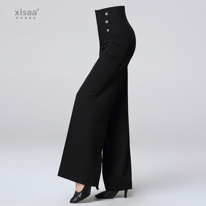 sWhJS xisaa nouveaux pantalons nationaux large pantalon jambe pratique standard moderne compétition de danse de salon de la mode de danse latine femmes casual large Le
