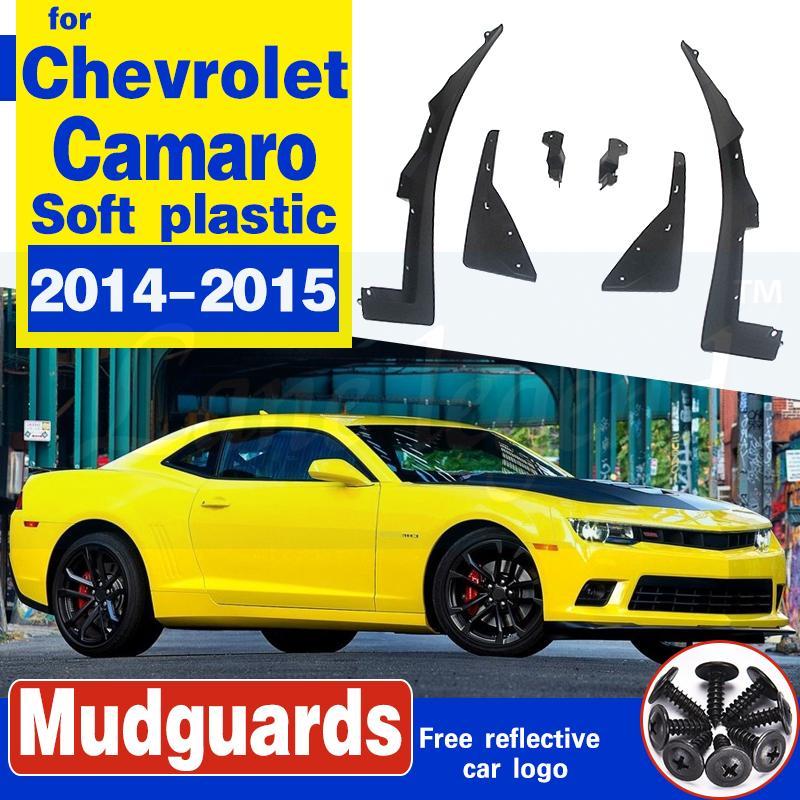 Pour Chevrolet Camaro 2014-2015 Garde-boue boue Rabats Splash garde-boue Garde Mudflap voiture roue arrière avant en plastique souple Accessoires