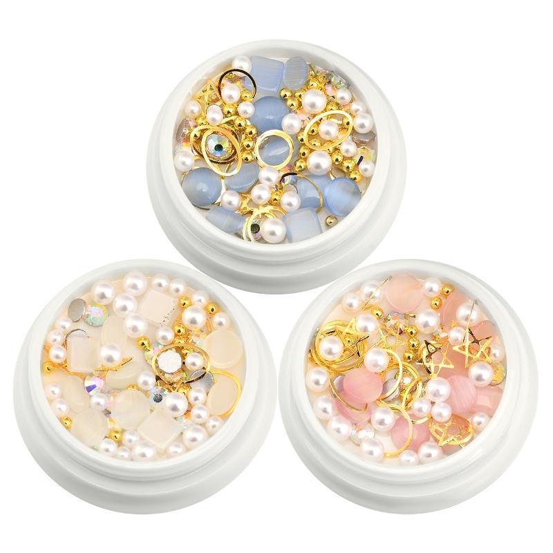 Nail Art Kits opala brilhante para pregos 3d strass kit cristal diamante e encantos decoração flatback pedras pedras