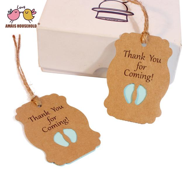 50pcs Paper Bottle Shape Gift Tag Gift Box Labels Thank You Note Christmas