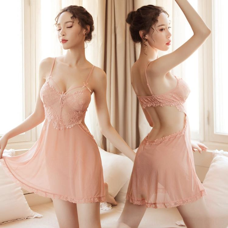 65wL4 Sa7M5 Sous-vêtements sexy nouvelle Sling pyjama Nightlife gaze dentelle jarretelle sous-vêtements sexy tentation nuisette nuisette costume coquet