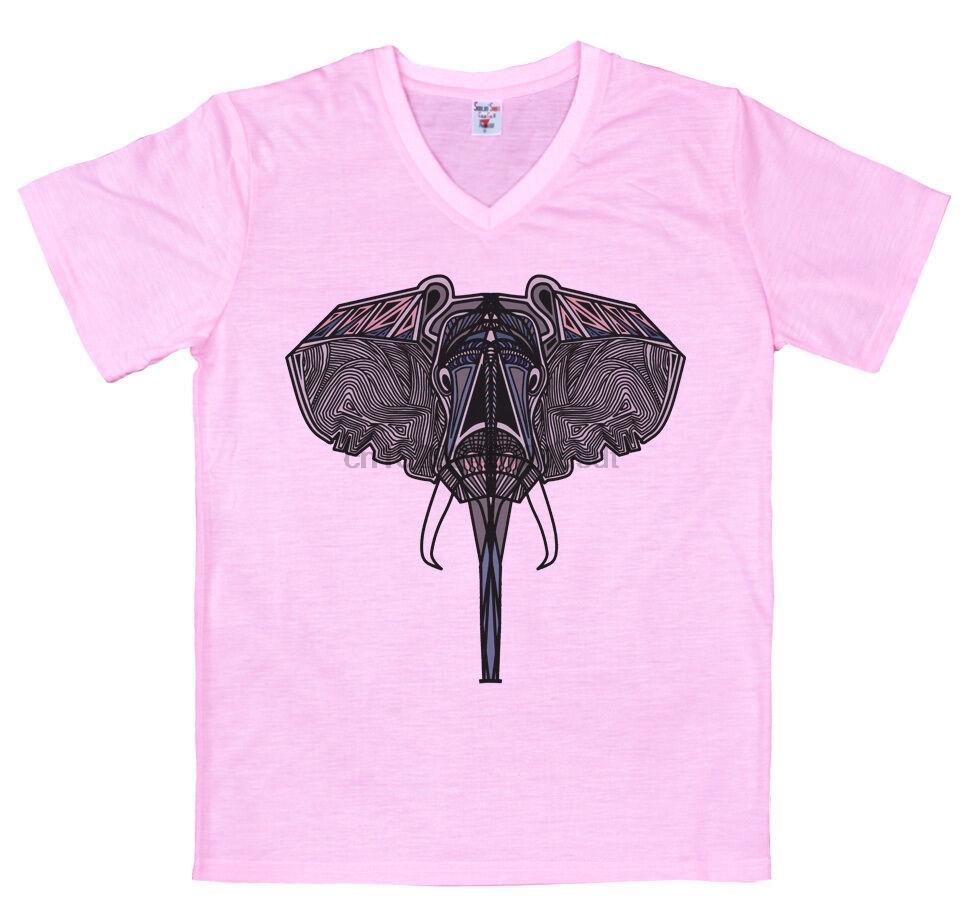 Géométrisée éléphant T-Shirt Design (1)
