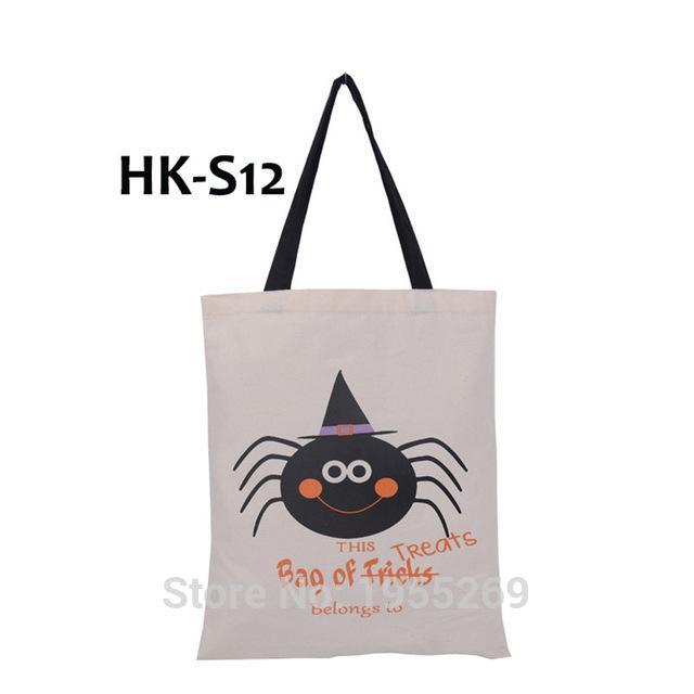 Хэллоуин Холст сумка 300pcs / серия Halloween Pumpkin Tote Customized подарки Украшение персонализированная рождественские покупки Сумочка