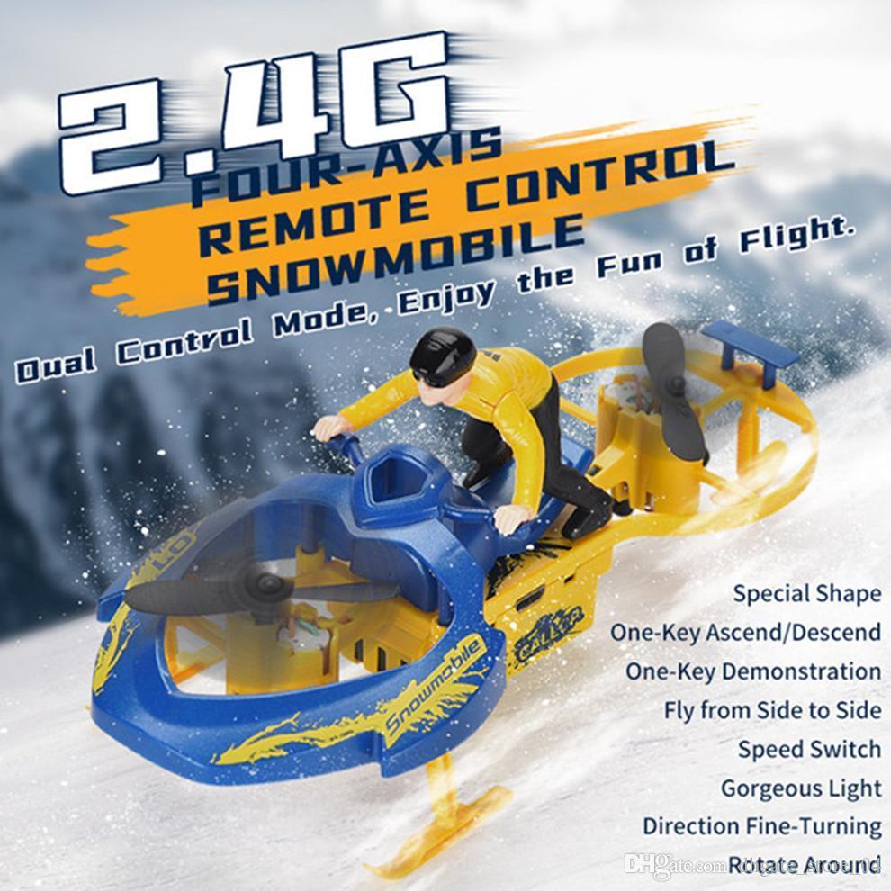 2.4G vierachsige Fernbedienung RC Motorschlitten Spielzeug kühle Snowmobile Modell Kind Spielzeug Fahren mit hohen Geschwindigkeit ABS-Material 03