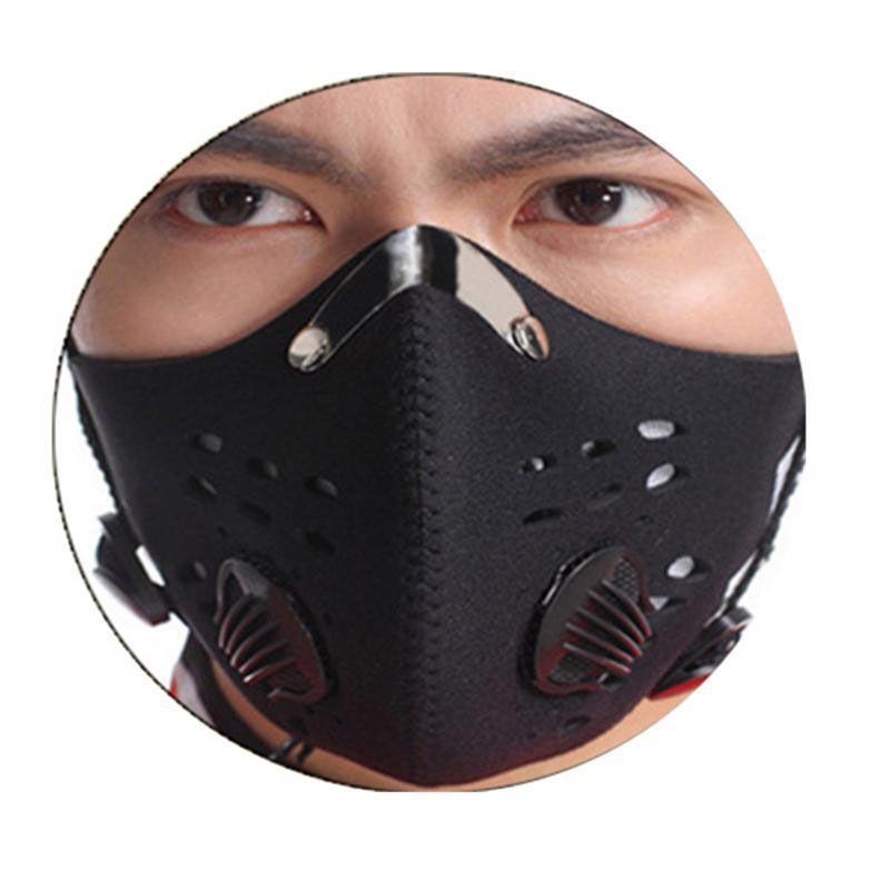 Máscara facial reutilizável com filtro Esportes Máscara de ciclismo ativada camada de carbono à prova de poeira Protetor de proteção Máscaras de caminhadas para mulheres homens facemask