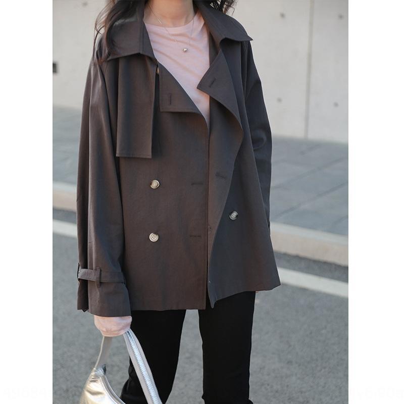 2020 début de l'automne coupe-vent nouveau loisir urbain pour les femmes des femmes coréennes de banlieue polyvalent court coupe-vent 8078