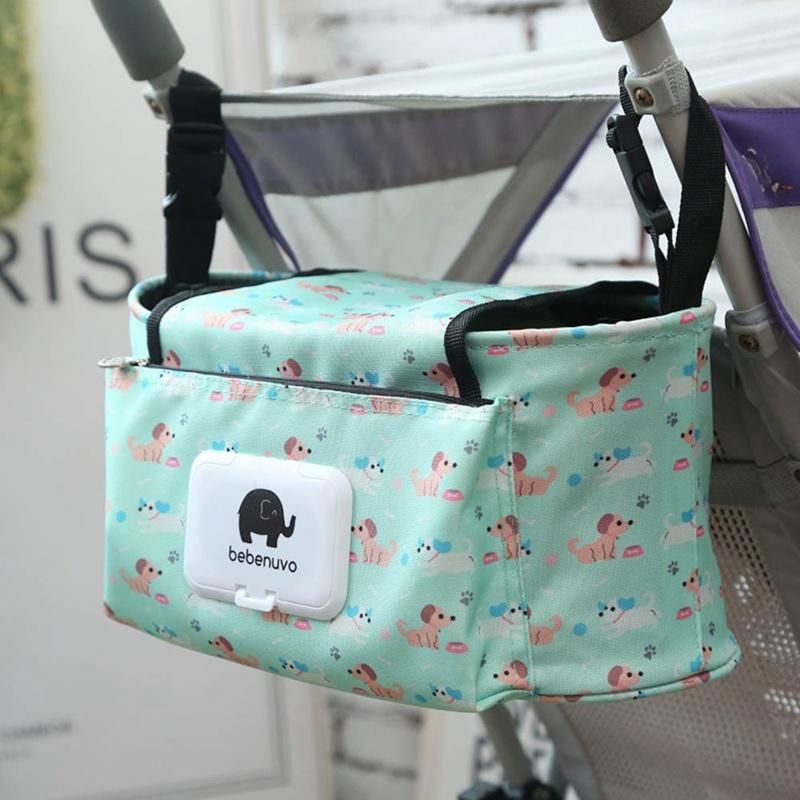New Stroller Hanging Bag Mummy Stroller Travel Nappy Bags Water Bottle Diaper Storage Nursing Bag Accessories