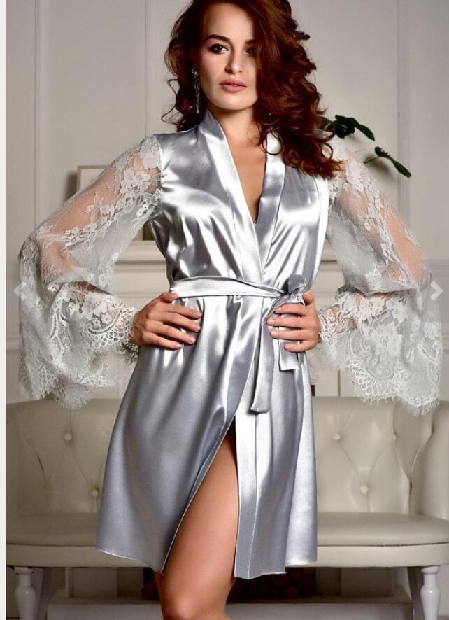 XXXL الوردي موضة الحرير فو رداء الحرير ملابس خاصة فام الرئيسية البدلة ليلة النوم مجموعات ملابس داخلية الخصم بيع الجنس للنوم مفتوحة تمثال نصفي