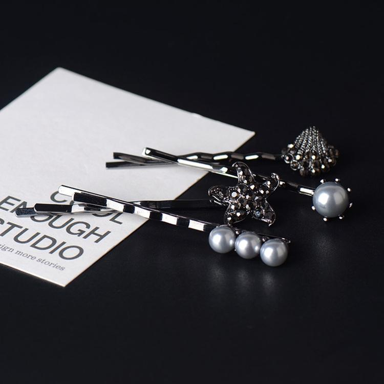 Jinger Yeni Korece Rhinestone seti elmas taklidi Kristal klip kafa saç tokası patlama kristal saç aksesuarları r4ZL6