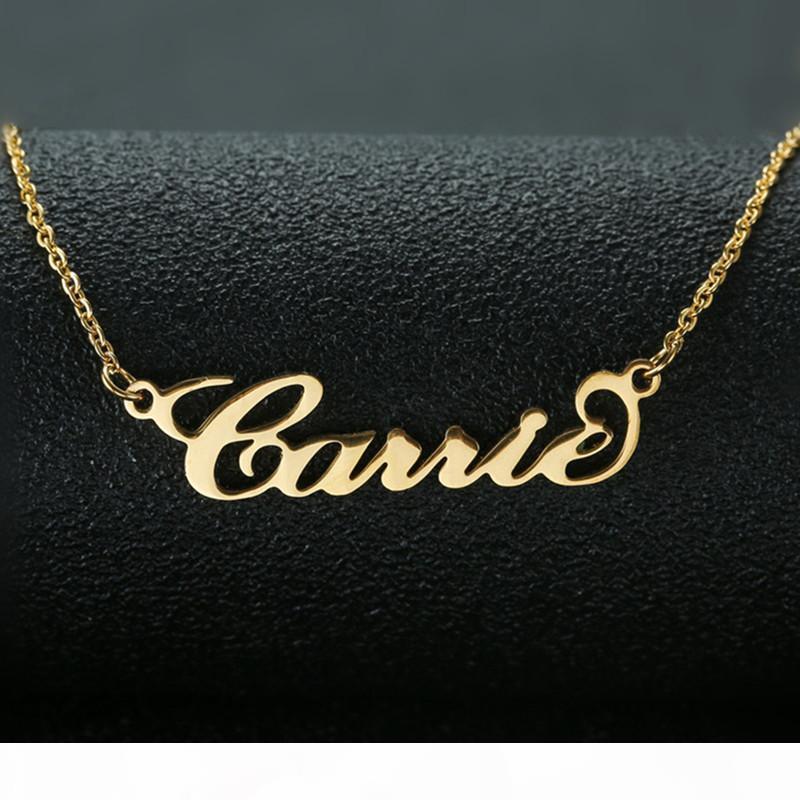 Carrie Stil Adı Kolye Kişiselleştirilmiş Takı Özelleştirilmiş kolye Mükemmel Hediye Dropshipping