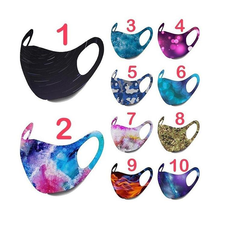 Hot Star Sky Printed Face Mask Camouflage Fire Figure Muti Colors Hanging Reusable Mask Starry Print Printing Washable Mascarilla Fashion
