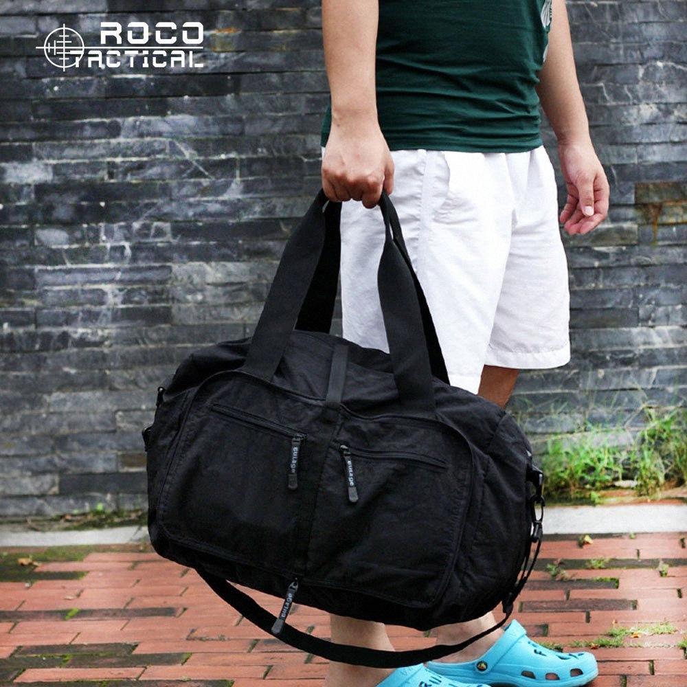 Wholesale- ROCOTACTICAL Ultra faltbarer große Kapazitäts-Spielraumduffle Tasche Reise Wandern Organizer Handtaschen Sporttaschen mit Schulter J7a6 #