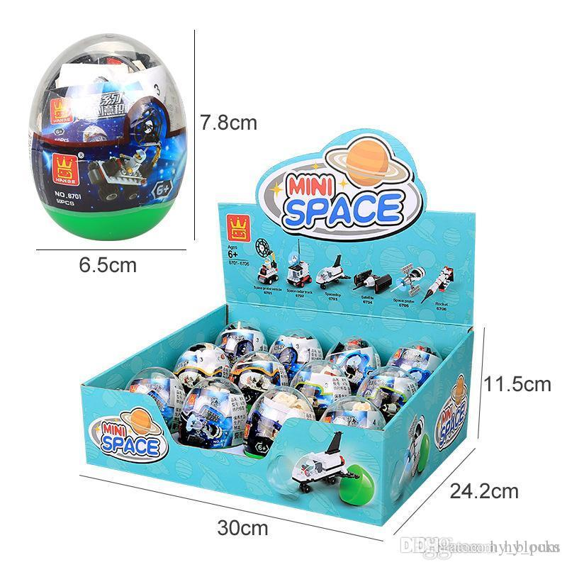 capsule mini space building block 6in1 space series capsules balls assemble bricks for kids cognitive intelligence toys boy gift 02