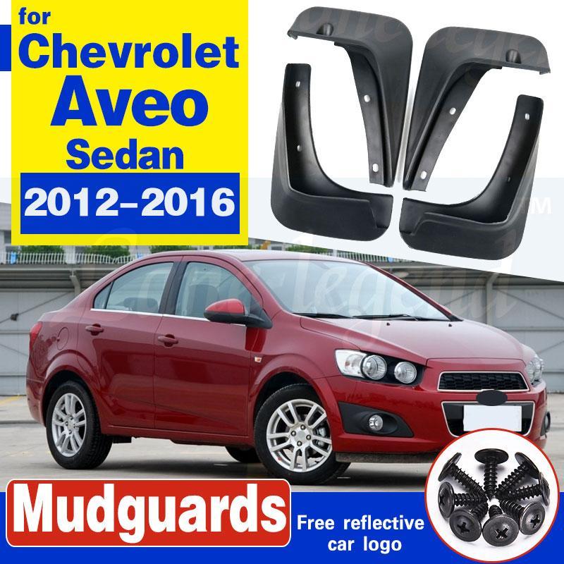 Garde-boue moulé pour Chevrolet Aveo Sonic Holden Barina Sedan Berline 2012 2013 2014 2015 2016 Bavettes Bavettes Garde-boue