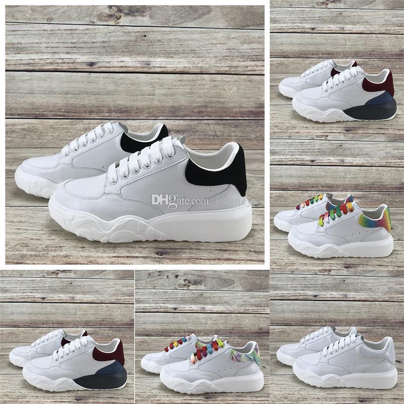 Лучший суд Trainer платформы обувь Мужчины Женщины Повседневная обувь белый черный темно-красный синий Трейнеры многоцветные радуги светятся в темноте кроссовки