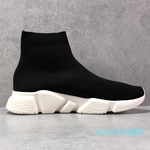 2019 Designer beiläufige Socke Schuhe Speed Trainer Schwarz Rot Triple Black Fashion Socken Sneaker Trainer Freizeitschuhe 36-45 L29