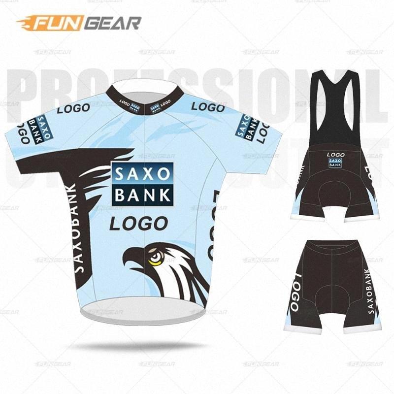Vêtements de vélo PRO Team Vêtements à manches courtes Jersey Ensemble Saxo Bank 2020 Vêtements de vélo sur mesure Vêtements de vélo d'été MTB Triathlon Skinsuit H0b0 #