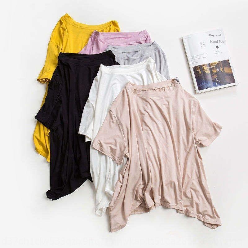 JQKVM AHCEM 2020 Kurzärmelige Home Kleidung Kontrast Farbe online Celebrity Home Wear Two-Piece Set Lose Modier Casual Damen Pyjamas Tuch