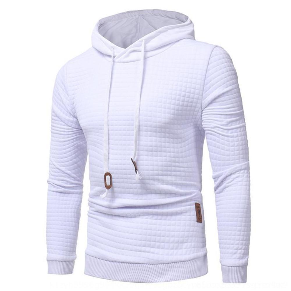 2019 sonbahar ve kış kazak erkek jakar yeni kollu kapşonlu uzun ceket hoodie sıcak renk kapüşonlu sweatshirt ceket IdQg8