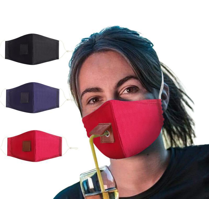 Yüz Toz geçirmez Ayarlanabilir Bisiklet Maske Tasarımı DHL Yeniden kullanılabilir Moda Delik Ücretsiz Kargo Yıkanabilir Windproof Maskeler Koruyucu Straw mCVpI Maske