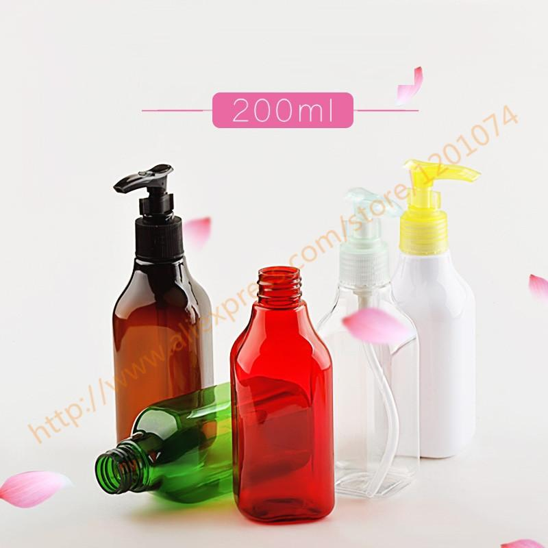 200ml pretty colors PET bottle with plastic pump.for lotion/hand wash/Shampoo/moisturizer/facial water PET container