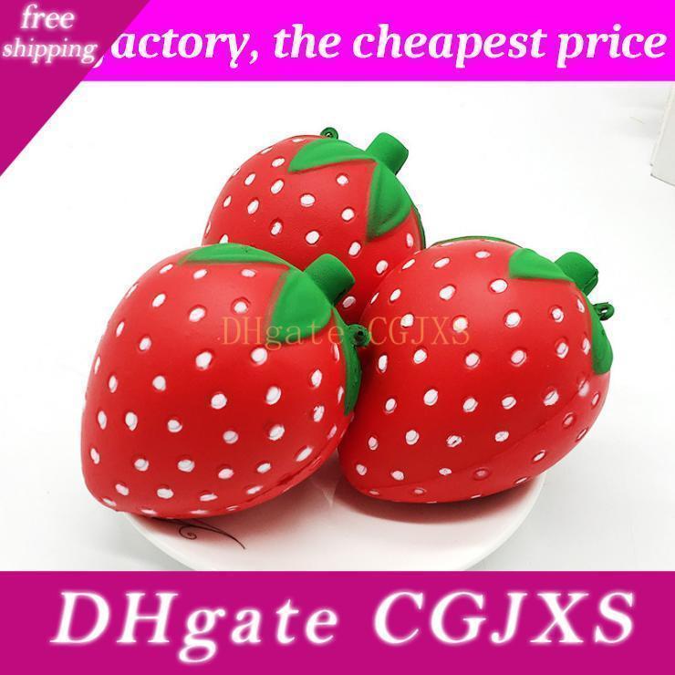 Squishy Strawberry 11cm * 8 centimetri lento aumento soft Squeeze, Carino Cell Phone Strap stress del regalo dei bambini decompressione giocattoli giocattolo