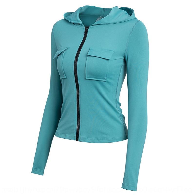 Mode vêtements de yoga étirer sport étirement serré occasionnel des femmes manteau sexy courte gymnase vêtements yoga long manteau manches Vpwif