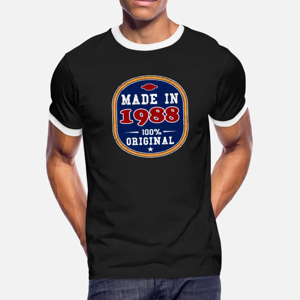 Made In 1988 100% Original t shirt men Custom tee shirt Round Collar Leisure Cute Funny Casual Spring Novelty shirt