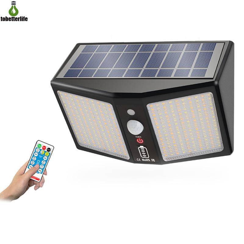 360 LED Light Solar Portable Wall Light Garden Motion Sensor Wall Light Waterproof Outdoor Solar Lamp 3 lighting color adjustable