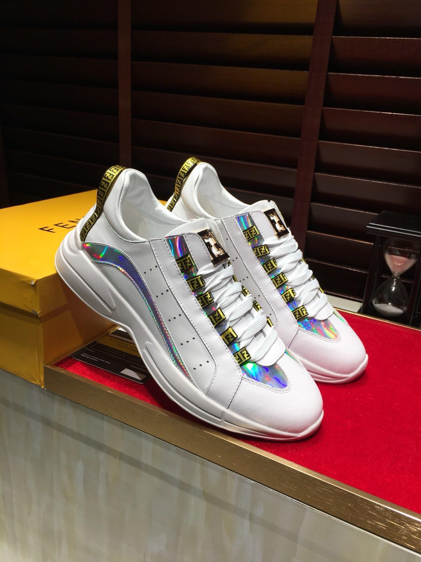 2021j haute -Fin hommes « ; S Chaussures Casual Lace -Jusqu'à extérieur Entraîneur plat Chaussures de sport en cuir basse -Top hommes »; S Respirant Tennis Sneakers 38