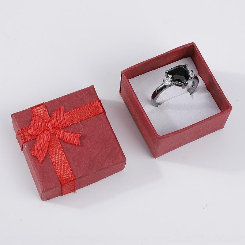 Nube cielo interior cubierta 4 * 4 de la joyería anillo de oído pendiente caja blanca caja de la joyería del clavo de la esponja FclZJ