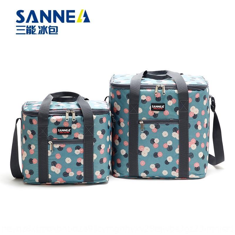 XHS3w Nouvelle impression d'isolation thermique de stockage stockage portable déjeuner isolation thermique et de refroidissement garder le déjeuner en plein air sac pique-nique fi aluminium