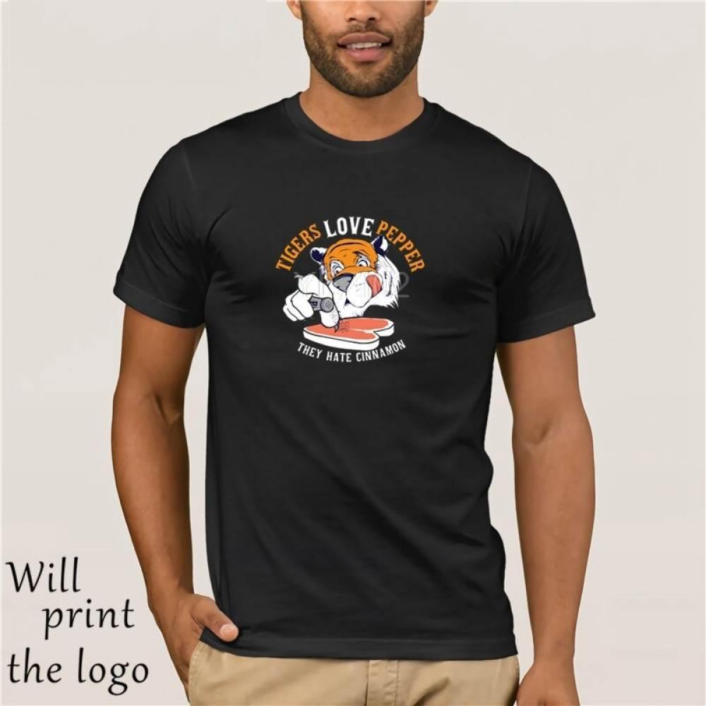 hohe Qualität Tiger Liebe Pfeffer Männer beiläufige Sportkleidung Sport-T-Shirts sportwear Tops